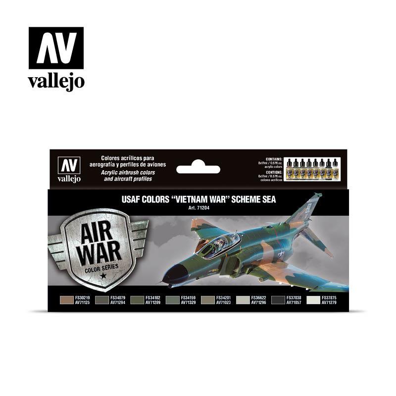 Vallejo Model Air - Usaf Colors -Vietnam War- Scheme Sea Set - Vallejo - VAL-71204