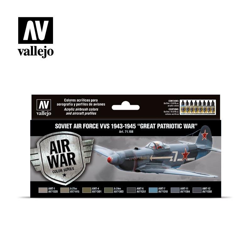 Vallejo Model Air - Soviet Air Force VVS 1943 to 1945 Great Patriotic War Set - Vallejo - VAL-71198