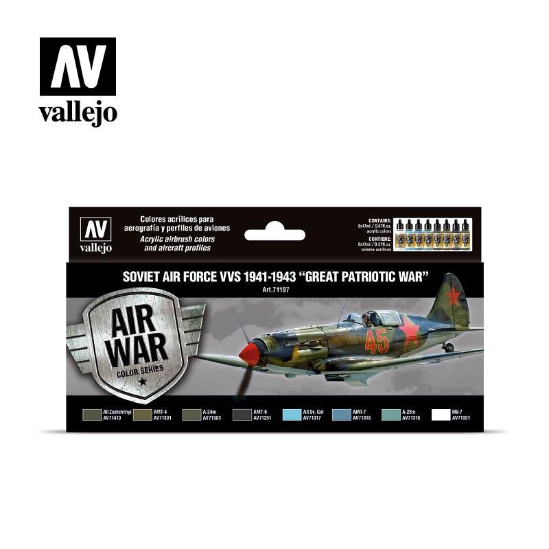 Vallejo Model Air - Soviet Air Force VVS 1941 to 1943 Great Patriotic War Set - Vallejo - VAL-71197