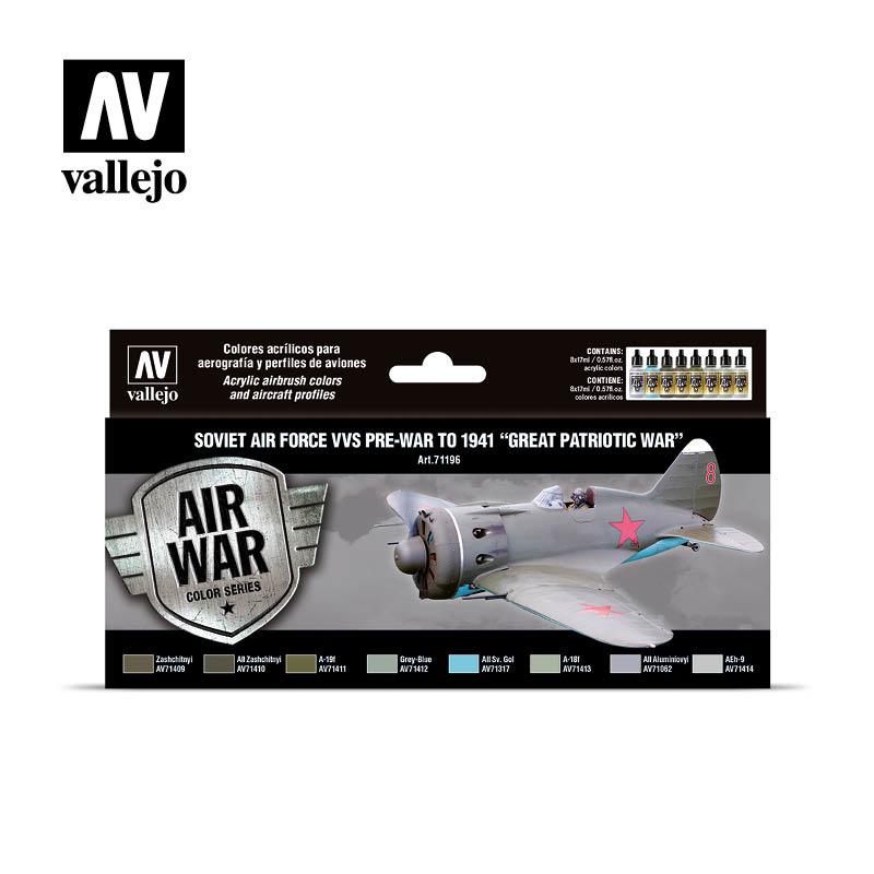 Vallejo Model Air - Soviet Air Force VVS pre-war to 1941 Great Patriotic War Set - Vallejo - VAL-71196