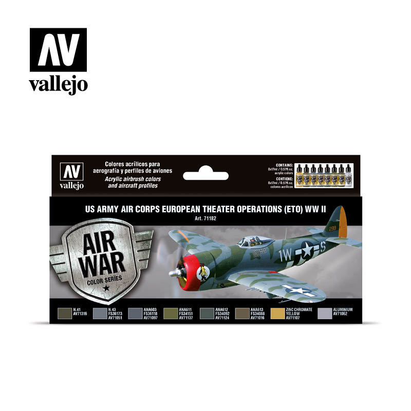 Vallejo Model Air - US Army Air Corps European Theater Operations (ETO) WWII Set - Vallejo - VAL-71182