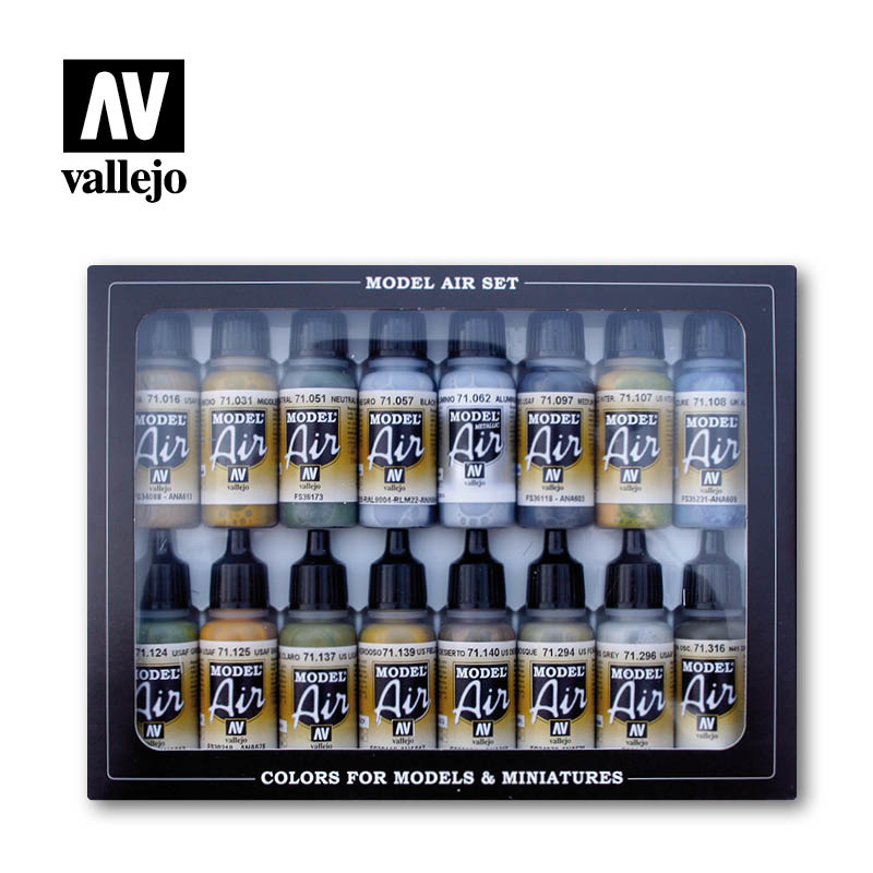Vallejo Model Air - WWII USAAF Aircraft Set - Vallejo - VAL-71185