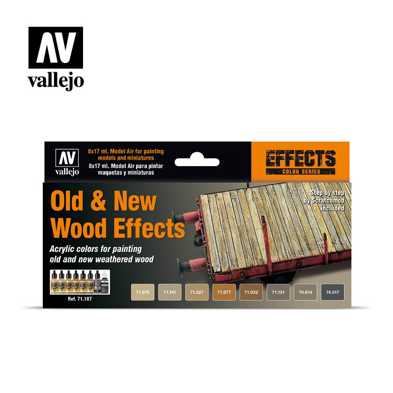 Vallejo Model Air - Old & New Wood Effects Set - Vallejo - VAL-71187