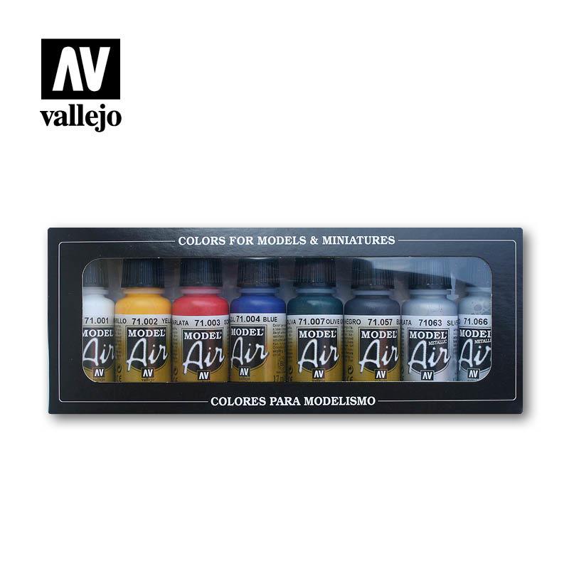 Vallejo Model Air - 8 Basic Colors Set - Vallejo - VAL-71174