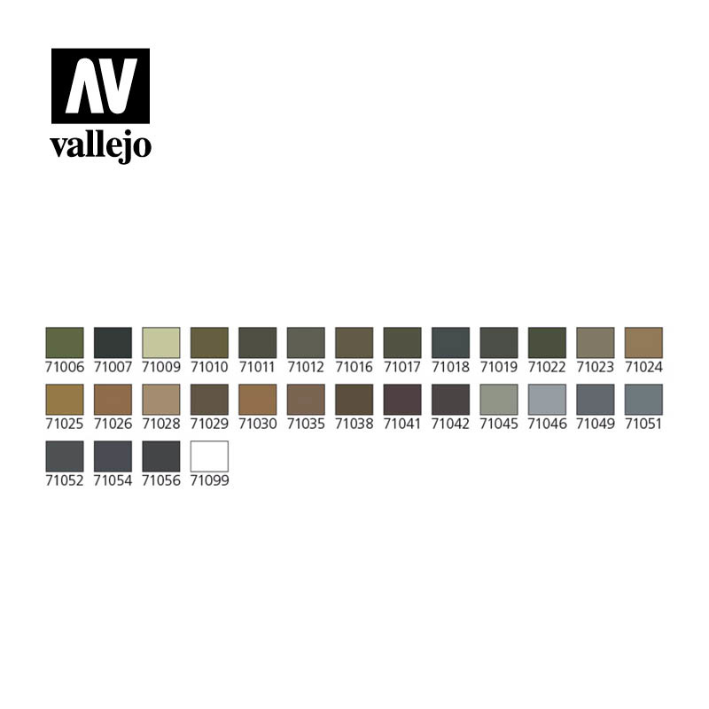 Vallejo Model Air - Camouflage Model Air Colors & Airbrush Set - Vallejo - VAL-71173