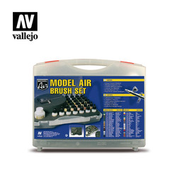 Model Air - Model Air Basic Colors & Airbrush Set - Vallejo - VAL-71172
