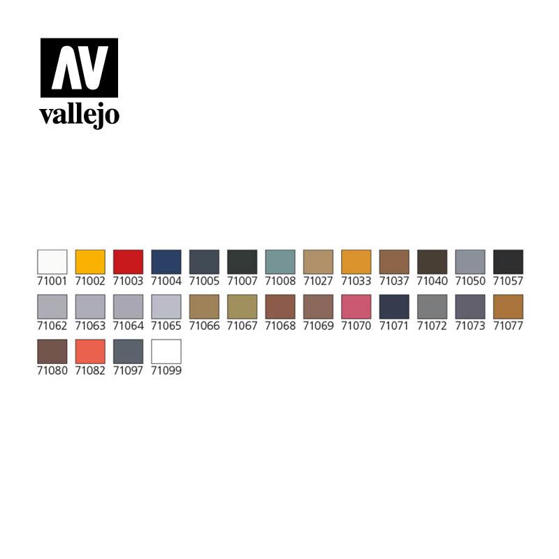 Vallejo Model Air - Model Air Basic Colors & Airbrush Set - Vallejo - VAL-71172