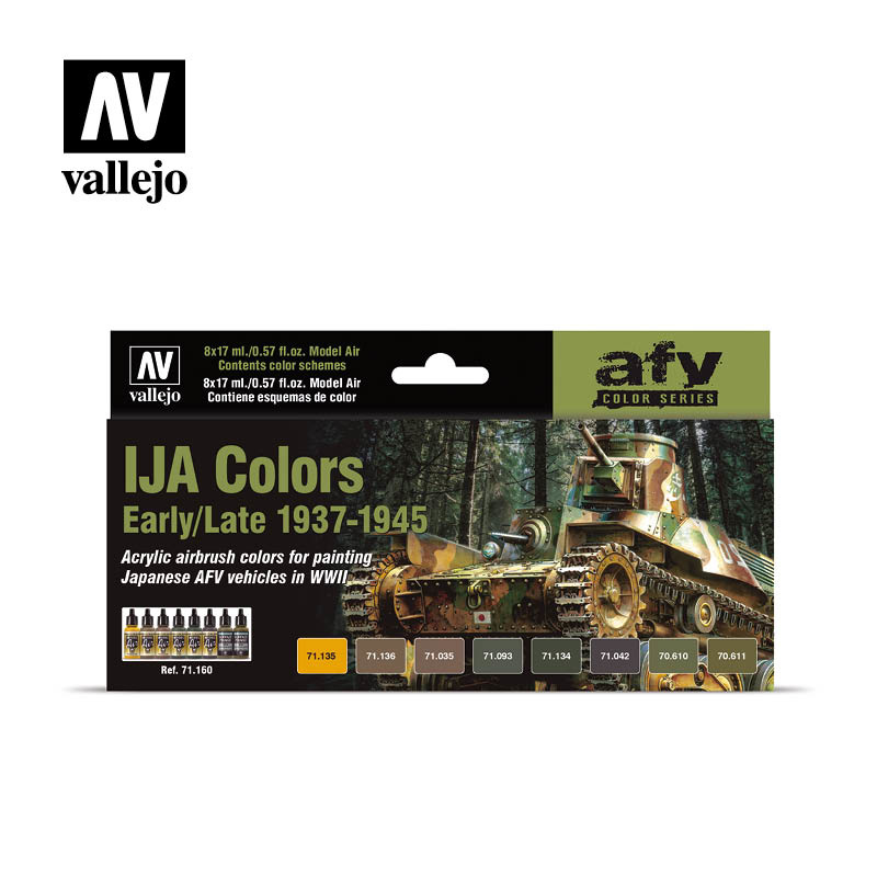 Vallejo Model Air - IJA Colors Early/Late 1937-1945 Set - Vallejo - VAL-71160