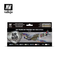 Model Air - RAF colors Day Fighters 1941-1945 & P.R.U. Set - Vallejo - VAL-71162