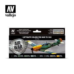 Model Air - Luftwaffe colors pre-war to 1941 Set - Vallejo - VAL-71165