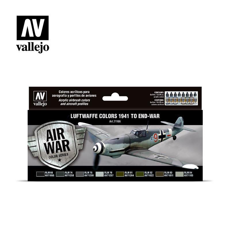 Vallejo Model Air - Luftwaffe colors 1941 to end-war Set - Vallejo - VAL-71166