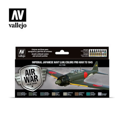 Model Air - Imperial Japanese Navy (IJN) colors pre-war to 1945 Set - Vallejo - VAL-71169