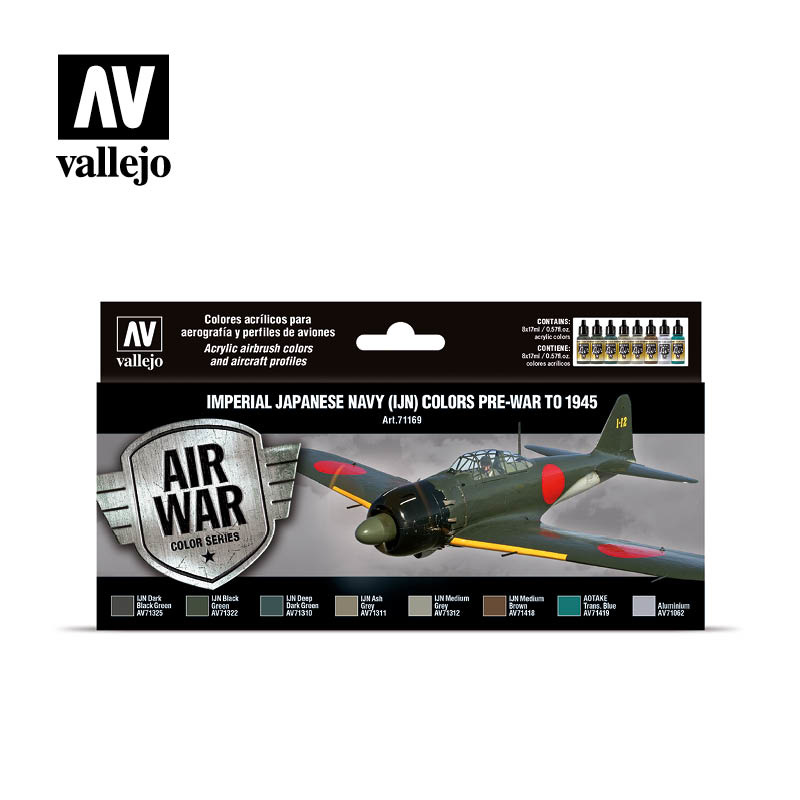Vallejo Model Air - Imperial Japanese Navy (IJN) colors pre-war to 1945 Set - Vallejo - VAL-71169