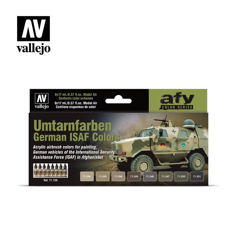 Vallejo Model Air - German ISAF Colors (Umtarnfarben) Set - Vallejo - VAL-71159