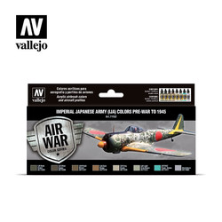Model Air - Imperial Japanese Army (IJA) colors pre-war to 1945 Set - Vallejo - VAL-71152