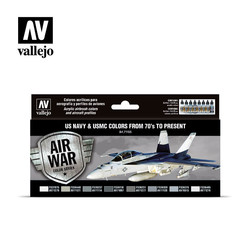Model Air - US Navy & USMC colors from 70's to present Set - Vallejo - VAL-71155
