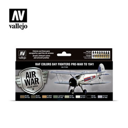 Model Air - Raf Day Fighters Pre-War To 1941 Set - Vallejo - VAL-71149