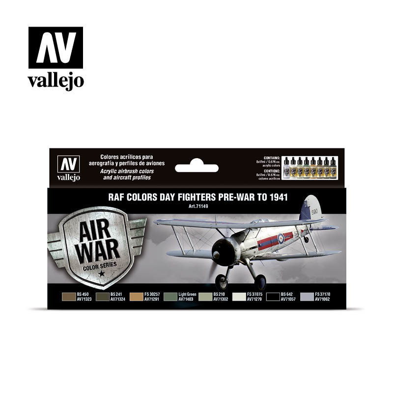 Vallejo Model Air - Raf Day Fighters Pre-War To 1941 Set - Vallejo - VAL-71149