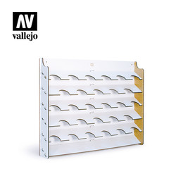 Wall Mounted Paint Display For 35ml & 60ml Bottles - Vallejo - VAL-26009