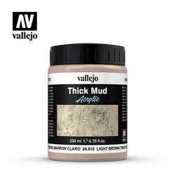 Light Brown Splash Mud - 200ml - Vallejo - VAL-26810