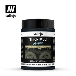 Black Splash Mud - 200ml - Vallejo - VAL-26812