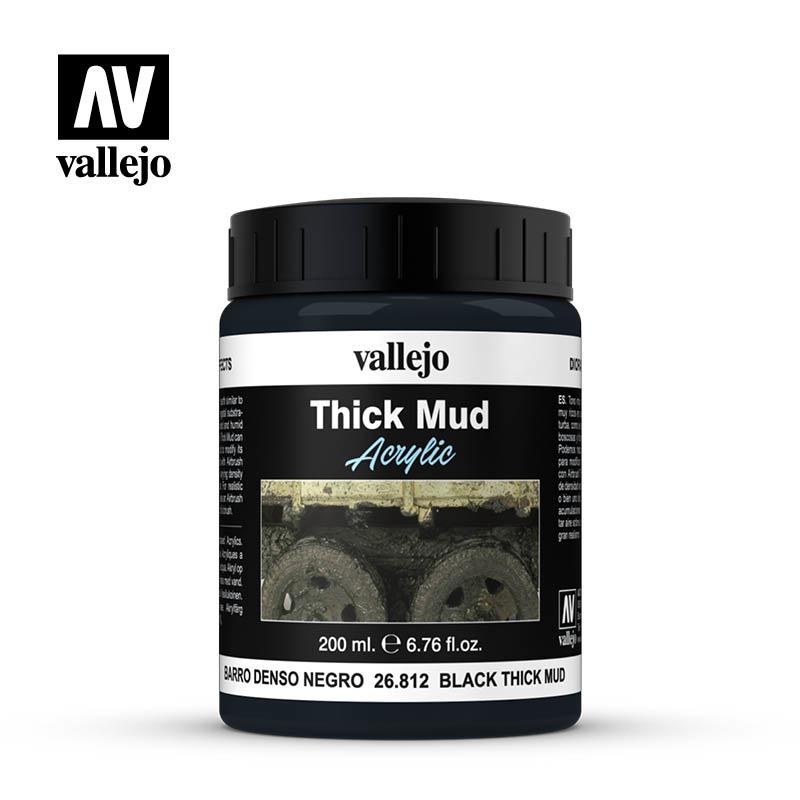 Vallejo Black Splash Mud - 200ml - Vallejo - VAL-26812
