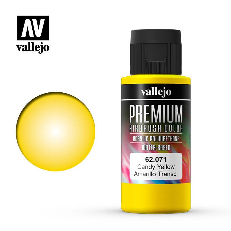 Vallejo Premium Color - Candy Yellow - 60ml - Vallejo - VAL-62071