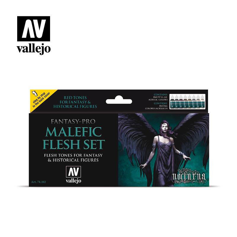 Vallejo Malefic Flesh Set - Vallejo - VAL-74102