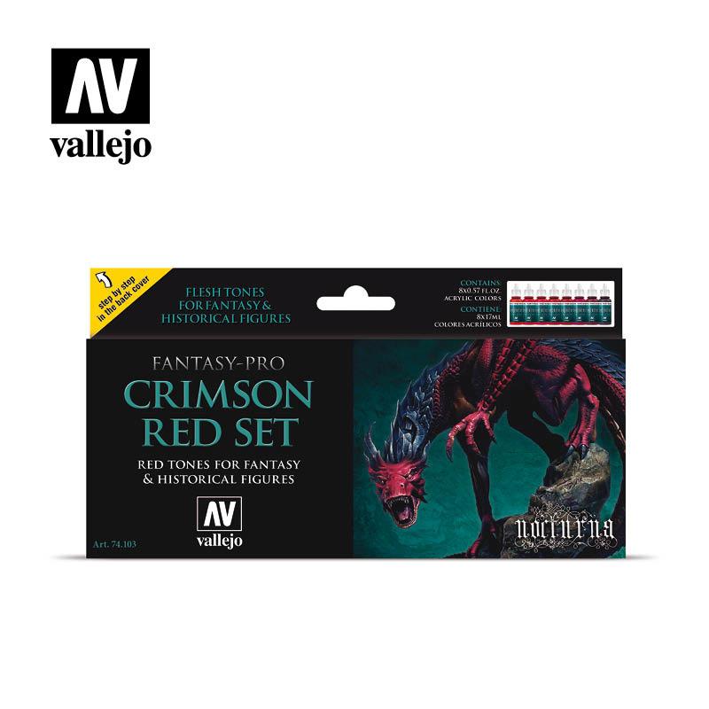 Vallejo Crimson Red Set - Vallejo - VAL-74103