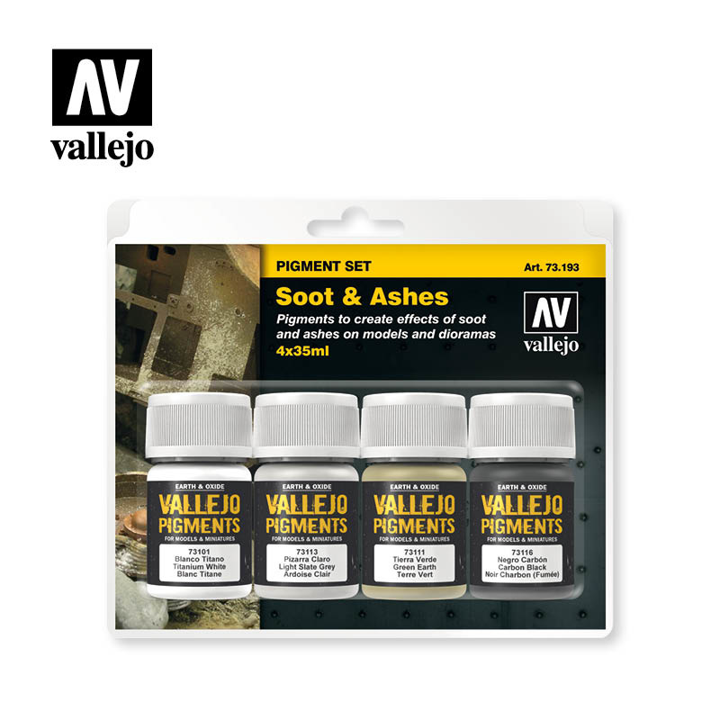 Vallejo Soot & Ashes Pigment Set  - Vallejo - VAL-73193