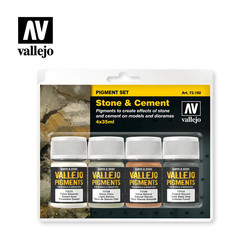 Stone & Cement Pigment Set  - Vallejo - VAL-73192