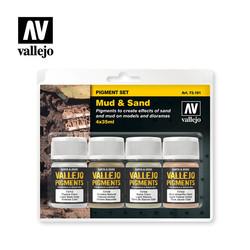 Mud & Sand Pigment Set  - Vallejo - VAL-73191