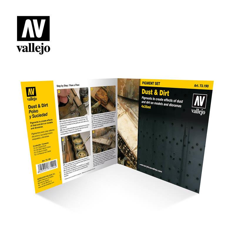 Vallejo Dust & Dirt Pigment Set  - Vallejo - VAL-73190