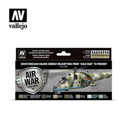 Soviet - Russian Colors Combat Helicopter - Vallejo - VAL-71601
