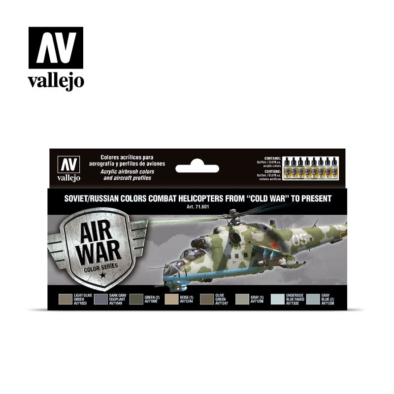 Vallejo Soviet - Russian Colors Combat Helicopter - Vallejo - VAL-71601
