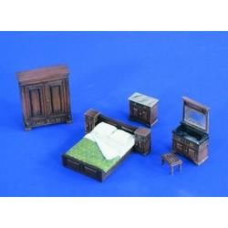Full Bedroom Furniture - Scale 1/35 - Verlinden Productions - VLP-2218