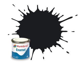 Humbrol Black Gloss - 14ml - Humbrol - Hul-E021