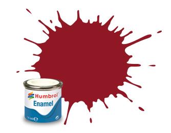 Humbrol Crimson Gloss - 14ml - Humbrol - Hul-E020