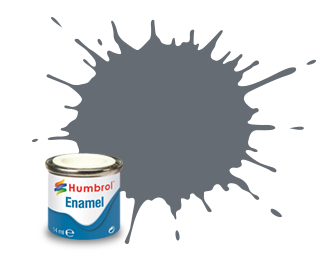 Humbrol Extra Dark Sea Grey Satin - 14ml - Humbrol - Hul-E123