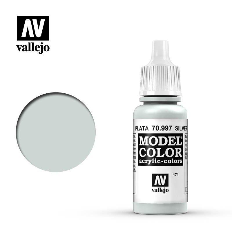 Vallejo Model Color - Silver - 17ml - Vallejo - VAL-70997