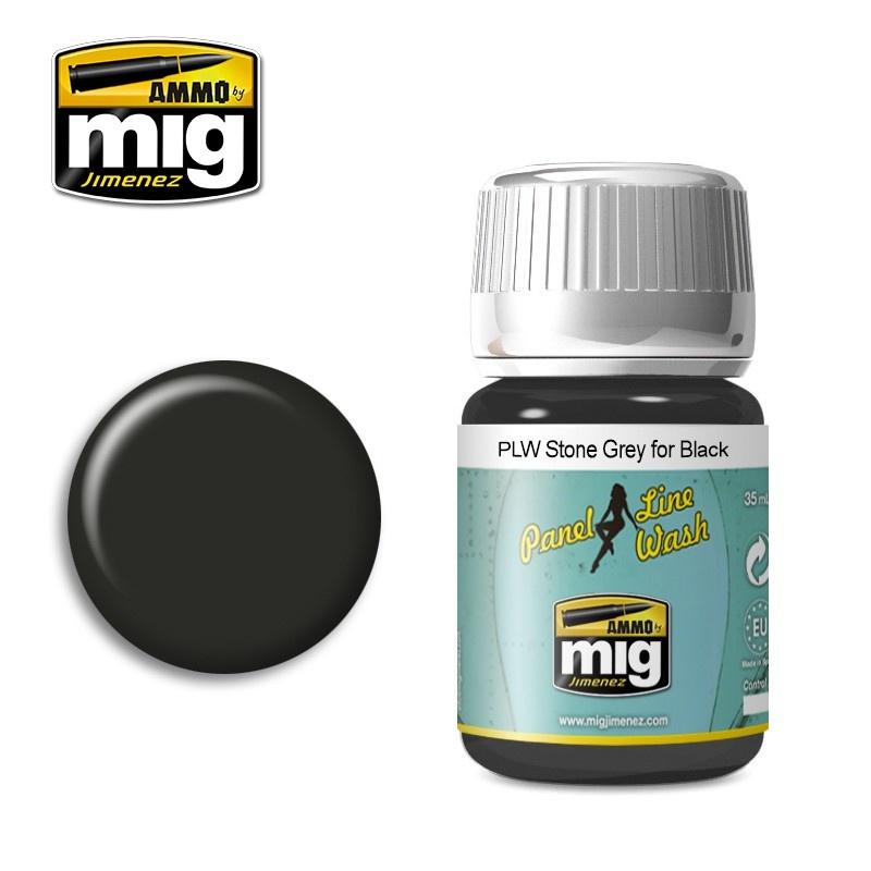 Ammo by Mig Jimenez PLW Stone Grey For Black - A.Mig-1615 - A.MIG-1615