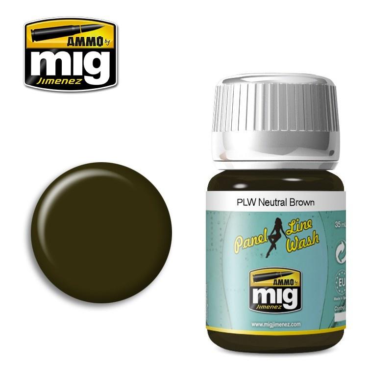 Ammo by Mig Jimenez PLW Neutral Brown - A.Mig-1614 - A.MIG-1614