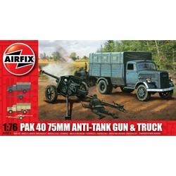 Opel Blitz & Pak 40 Gun  - Scale 1/76 - Airfix - AIX A02315
