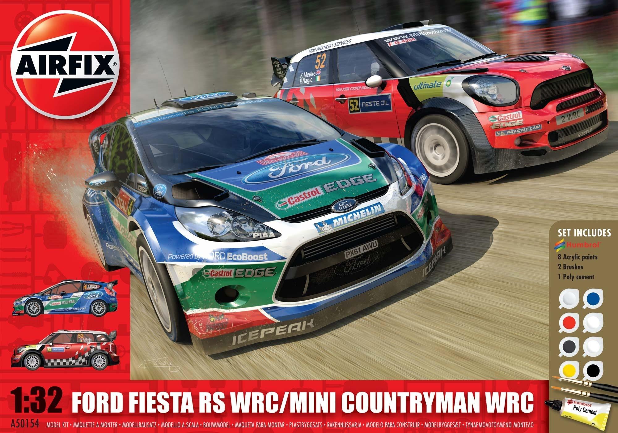 Airfix Mini Countryman Wrc/Ford Fiesta Wrc  - Scale 1/32 - Airfix - AIX A50154