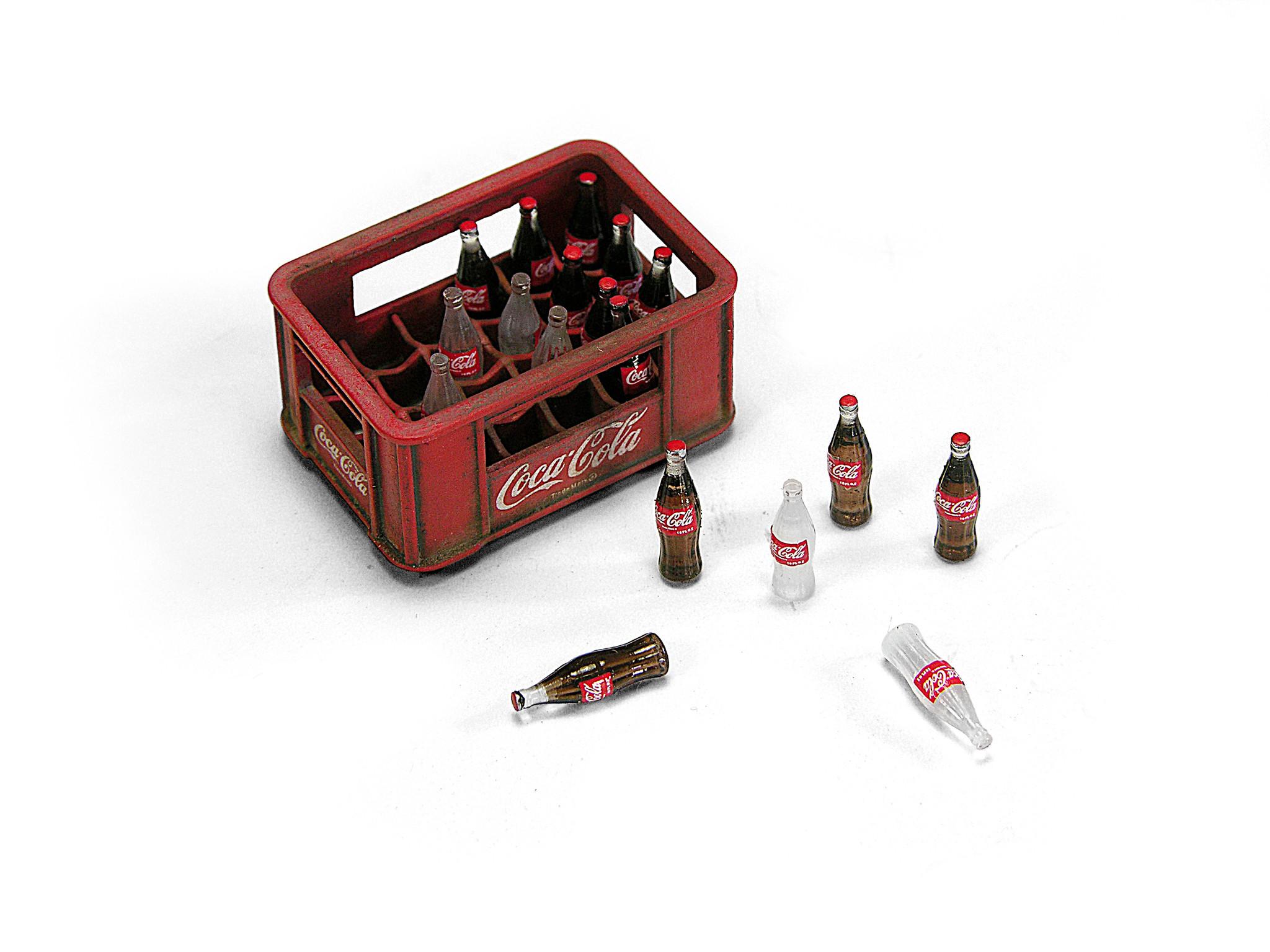 Doozy 1940-1980's PLASTIC BOX COCA-COLA BOTTLES - Scale 1/24 - Doozy - DZ027
