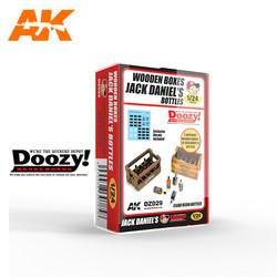 Wooden boxes of Jack Daniels Bottles - Scale 1/24 - Doozy - DZ029