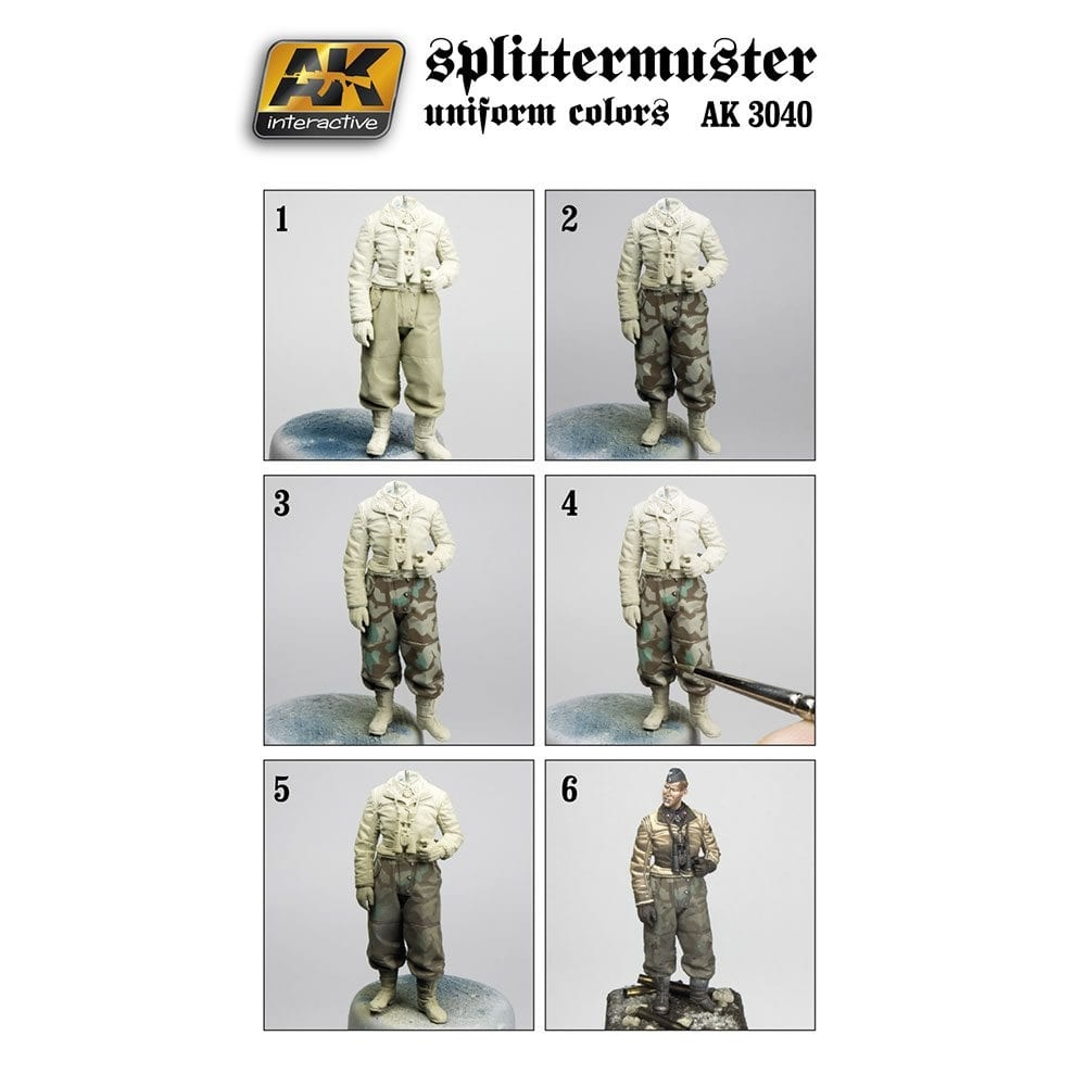 AK-Interactive Splittermuster Uniform Colors Set - AK-3040