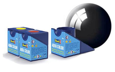 Revell Aqua Black Gloss - 18ml - Revell - RV36107