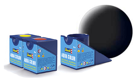 Revell Aqua Black Matt - 18ml - Revell - RV36108