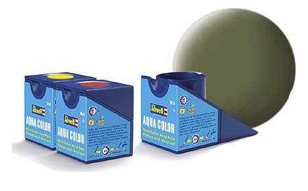 Revell Aqua Dark Green Matt Raf - 18ml - Revell - RV36168